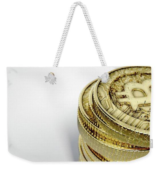 Bitcoin Stack Weekender Tote Bag