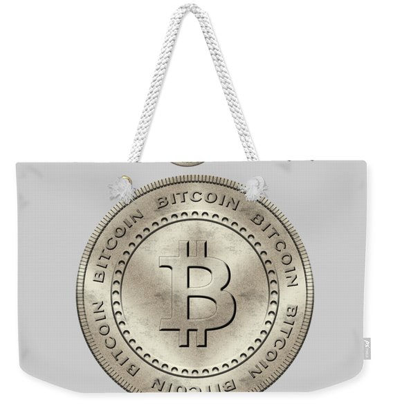 Bitcoin Symbol Hodl Quote Typography Weekender Tote Bag