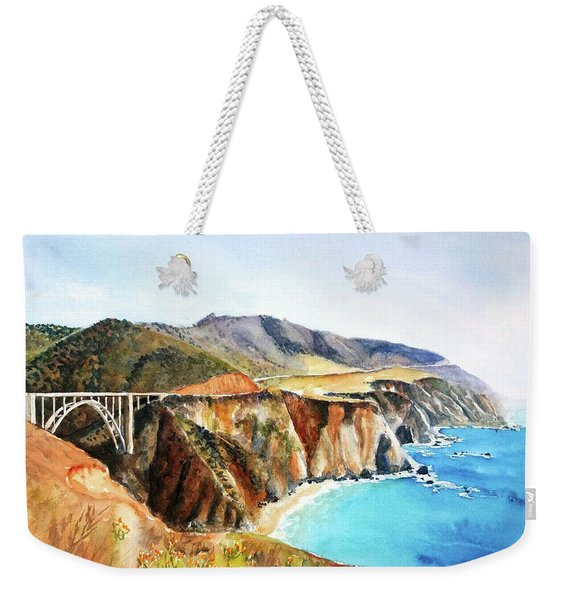 Bixby Bridge Big Sur Coast California Weekender Tote Bag