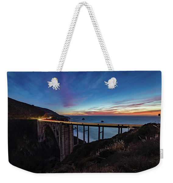 Bixby Bridge Sunset Weekender Tote Bag