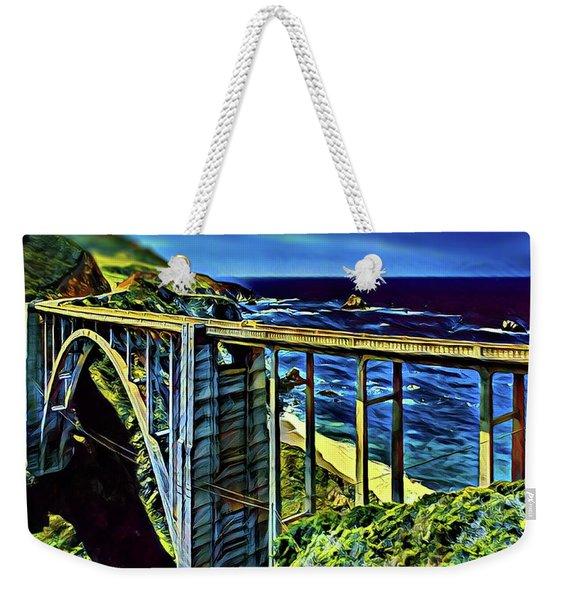 Bixby Creek Bridge - Big Sur Weekender Tote Bag
