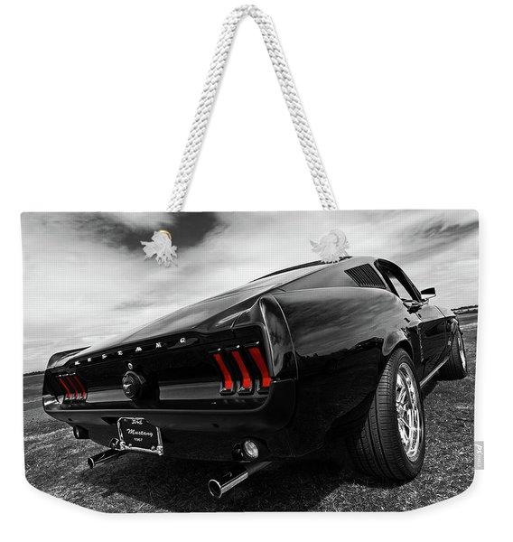Black 1967 Mustang Weekender Tote Bag