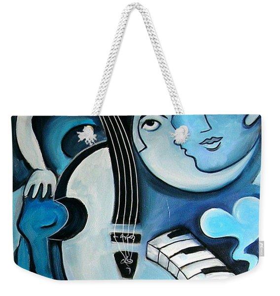 Black And Bleu Weekender Tote Bag