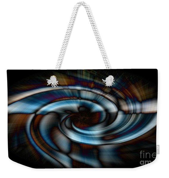 Black And Blue Weekender Tote Bag