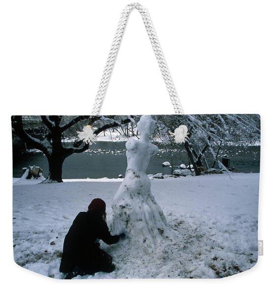 Black And Ice Weekender Tote Bag