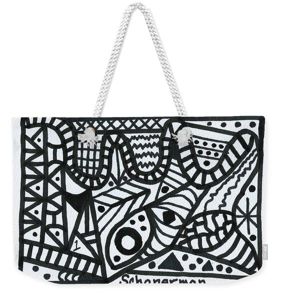 Black And White 1 Weekender Tote Bag