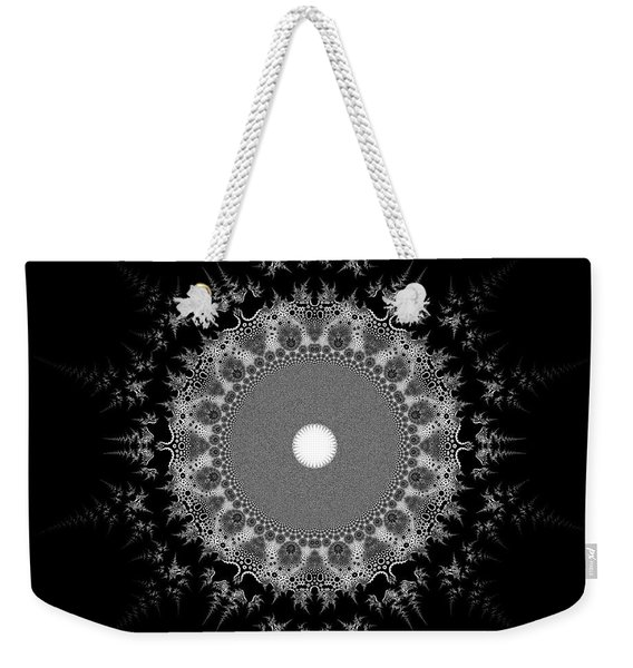 Weekender Tote Bag featuring the digital art Black And White 236 by Robert Thalmeier