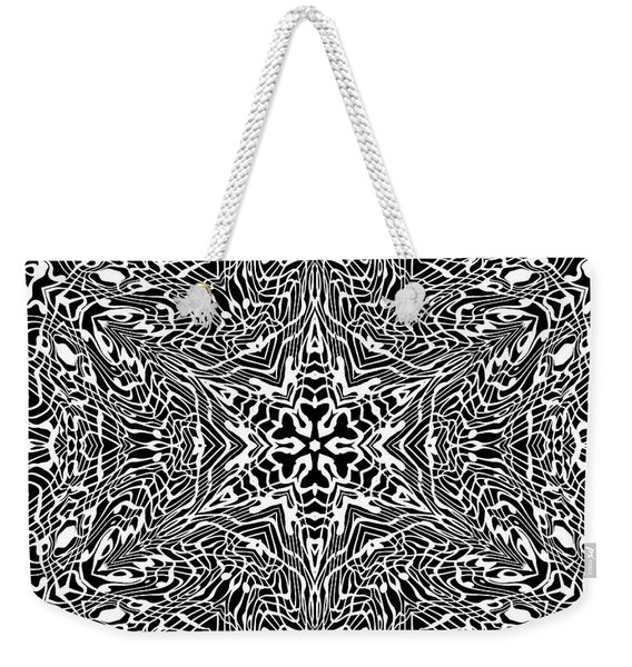 Weekender Tote Bag featuring the digital art Black And  White 27 by Robert Thalmeier