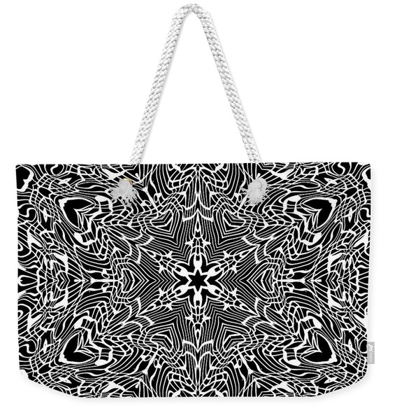 Weekender Tote Bag featuring the digital art Black And  White 28 by Robert Thalmeier
