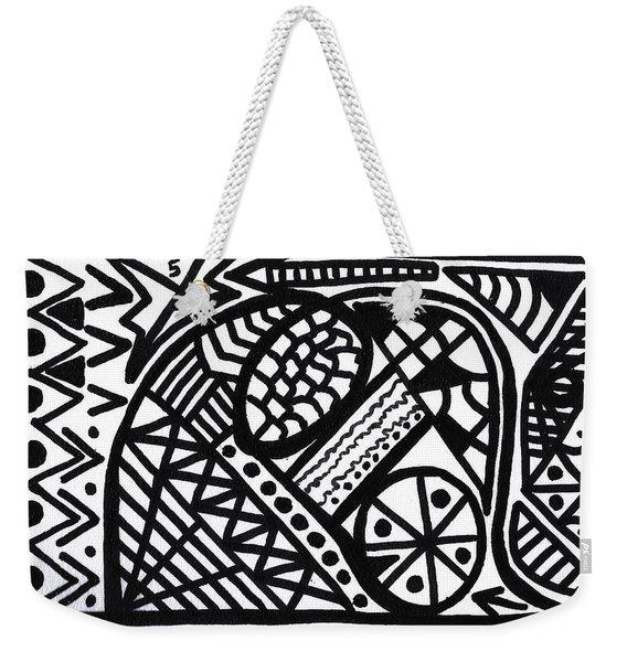 Black And White 5 Weekender Tote Bag