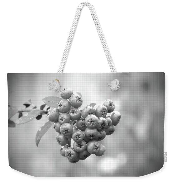 Black And White Berries Weekender Tote Bag