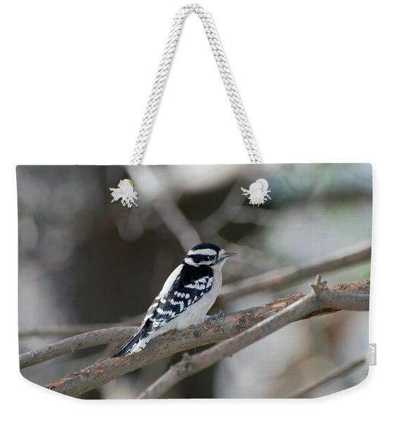 Black And White Bird Weekender Tote Bag