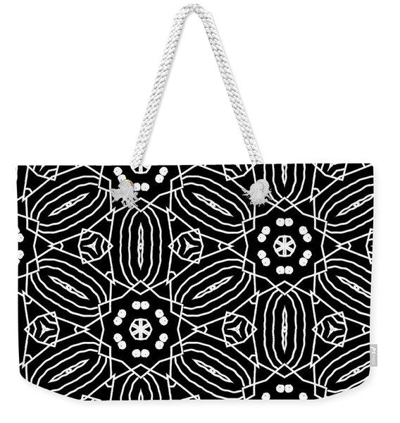 Black And White Boho Pattern 2- Art By Linda Woods Weekender Tote Bag