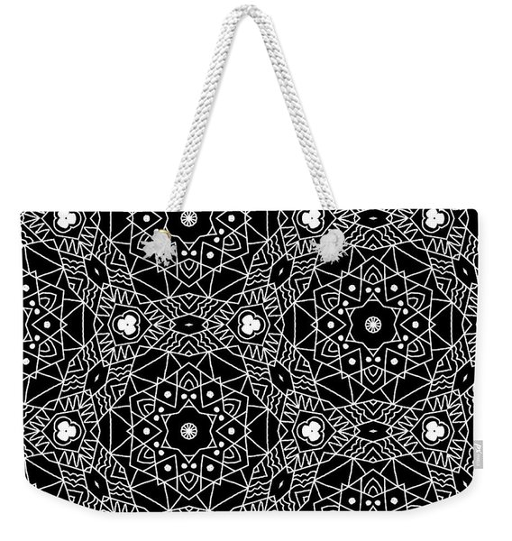 Black And White Boho Pattern 3- Art By Linda Woods Weekender Tote Bag