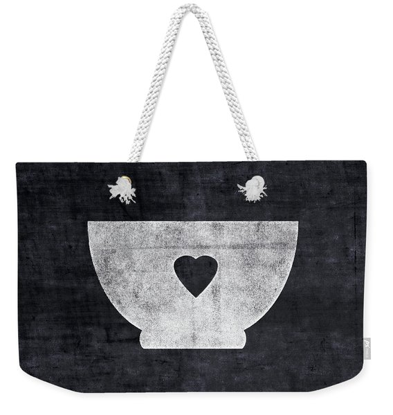Black And White Bowl- Art By Linda Woods Weekender Tote Bag