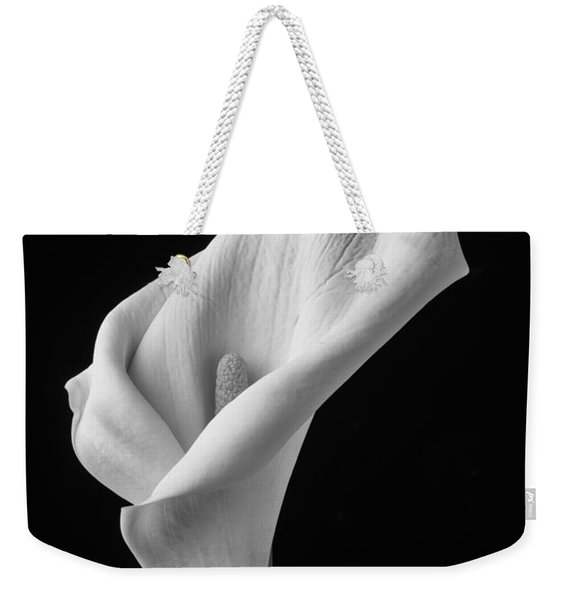 Black And White Calla Lily Weekender Tote Bag