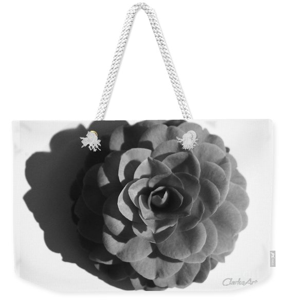 Camellia In Black And White Weekender Tote Bag