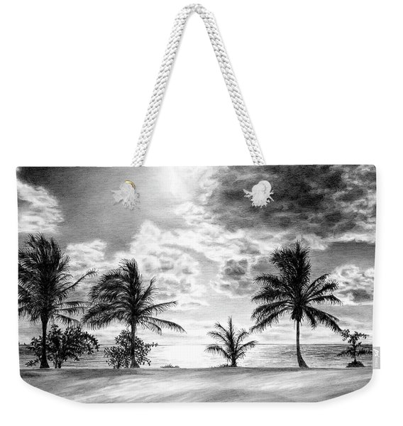 Black And White Caribbean Sunset Weekender Tote Bag