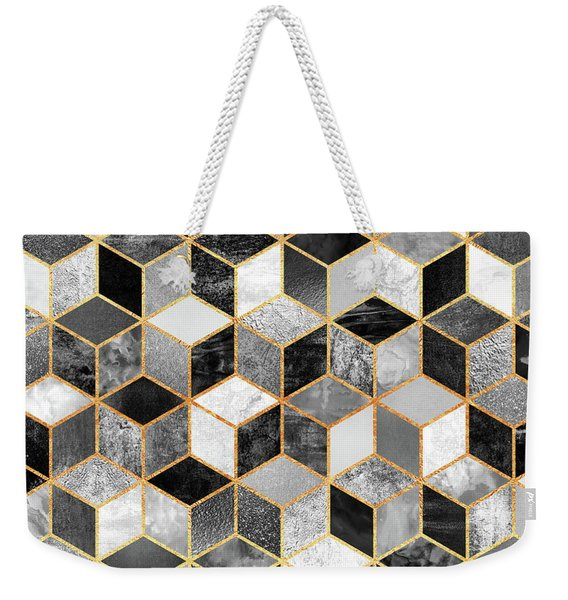 Black And White Cubes Weekender Tote Bag