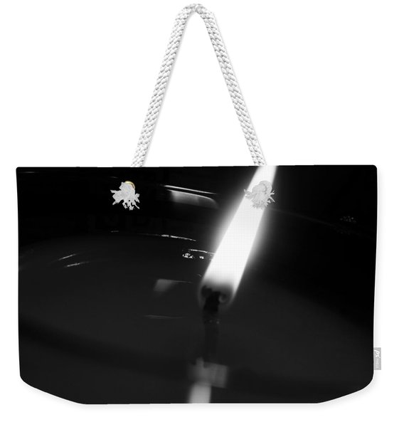 Black And White Flame Weekender Tote Bag