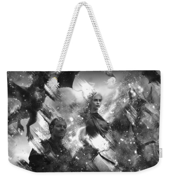 Black And White Games Of Thrones Another Story Weekender Tote Bag