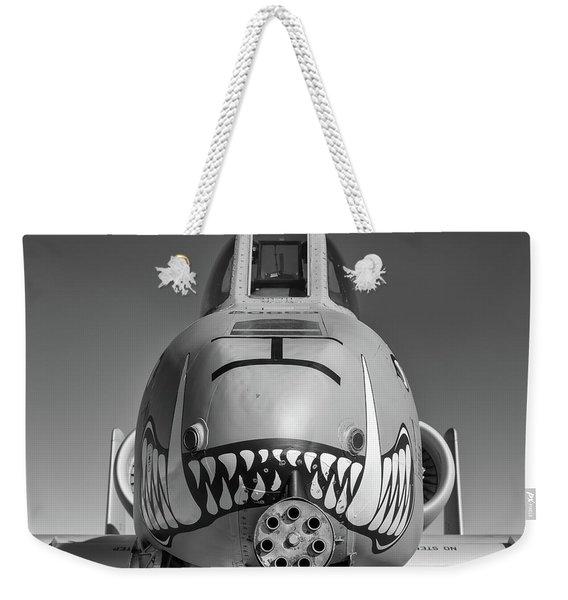 Black And White Hog - 2017 Christopher Buff, Www.aviationbuff.com Weekender Tote Bag