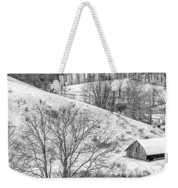 Black And White In Winter Weekender Tote Bag