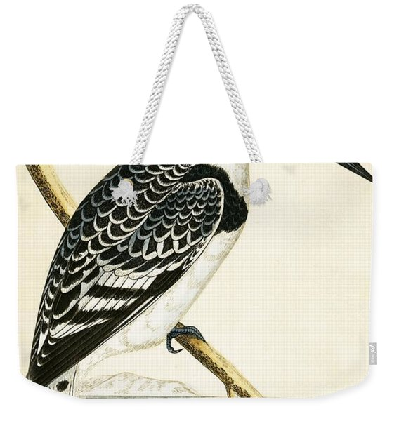 Black And White Kingfisher Weekender Tote Bag