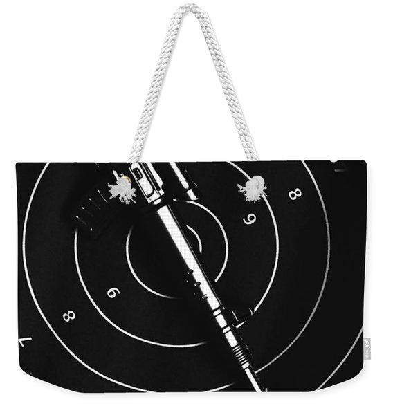 Black And White Military Marksman  Weekender Tote Bag