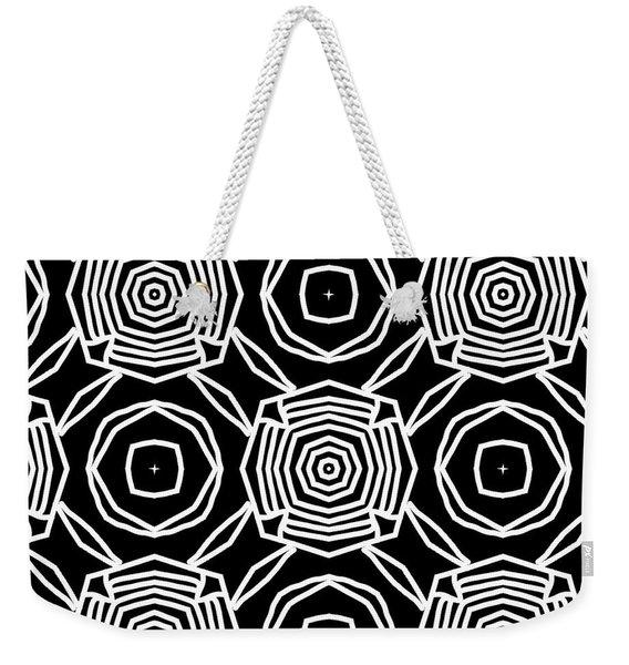 Black And White Modern Roses- Pattern Art By Linda Woods Weekender Tote Bag