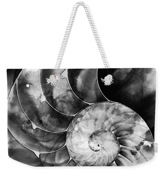 Black And White Nautilus Shell By Sharon Cummings Weekender Tote Bag