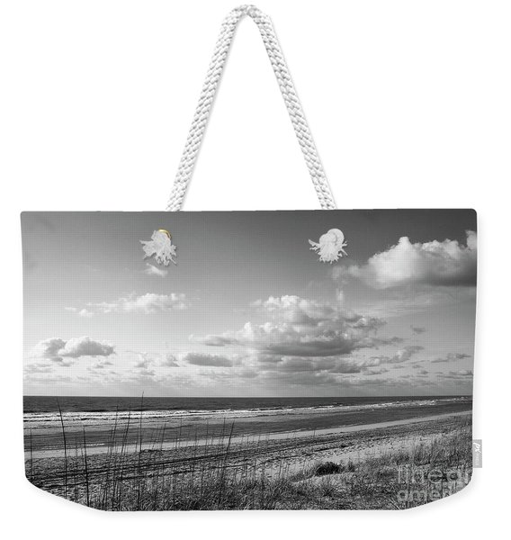 Black And White Ocean Scene Weekender Tote Bag