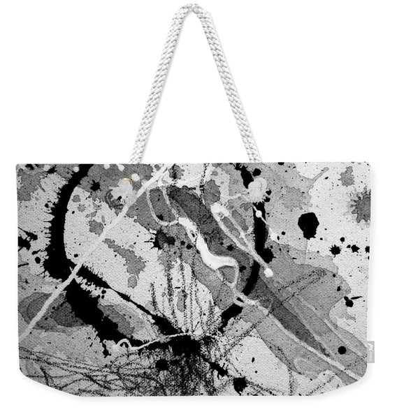 Black And White One Weekender Tote Bag