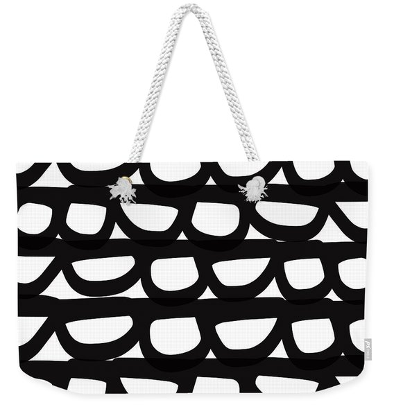 Black And White Pebbles- Art By Linda Woods Weekender Tote Bag