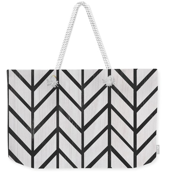 Black And White Quilt Weekender Tote Bag