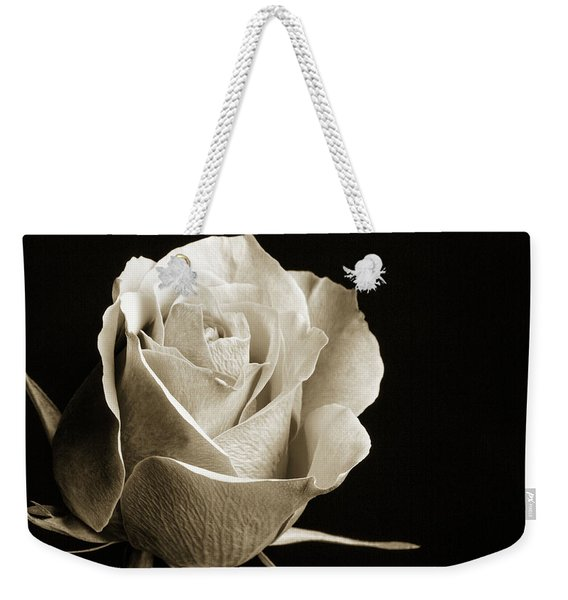 Black And White Rose 5534.01 Weekender Tote Bag