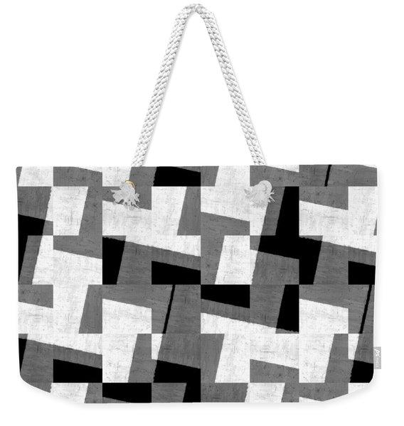 Black And White Study Weekender Tote Bag