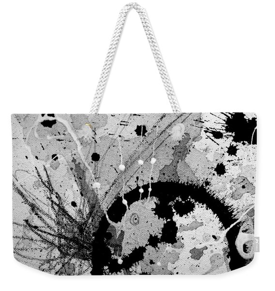 Black And White Three Weekender Tote Bag