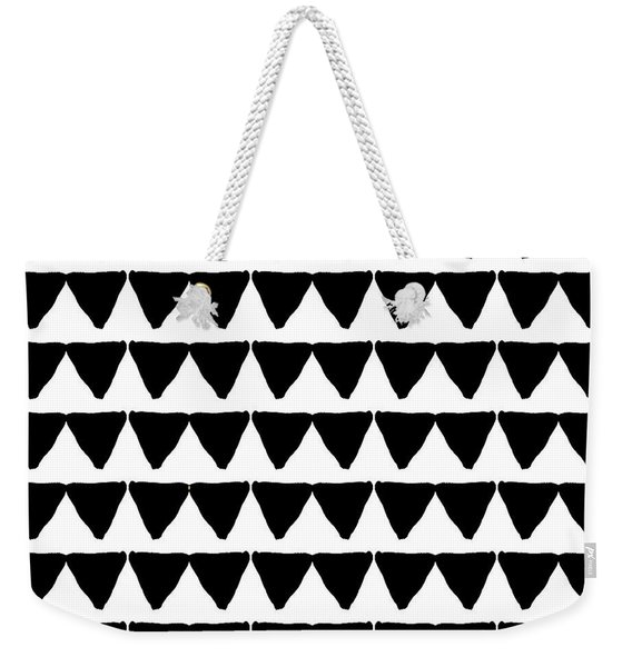 Black And White Triangles- Art By Linda Woods Weekender Tote Bag