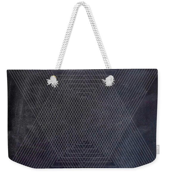 Black And White Triangular Line Art Weekender Tote Bag