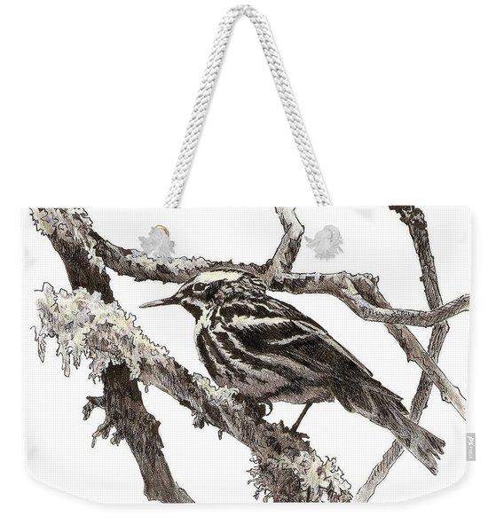Black-and-white Warbler Weekender Tote Bag