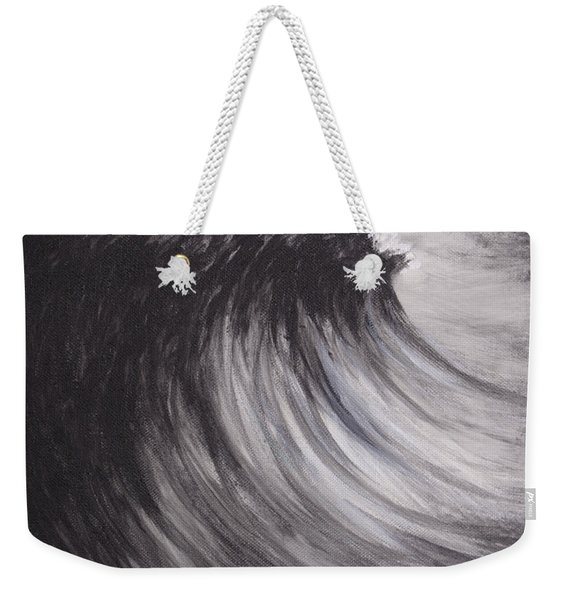 Black And White Wave Guam Weekender Tote Bag