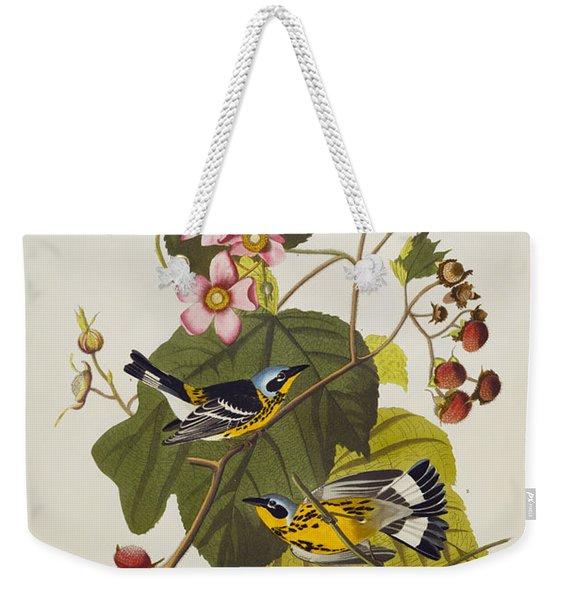 Black And Yellow Warbler Weekender Tote Bag