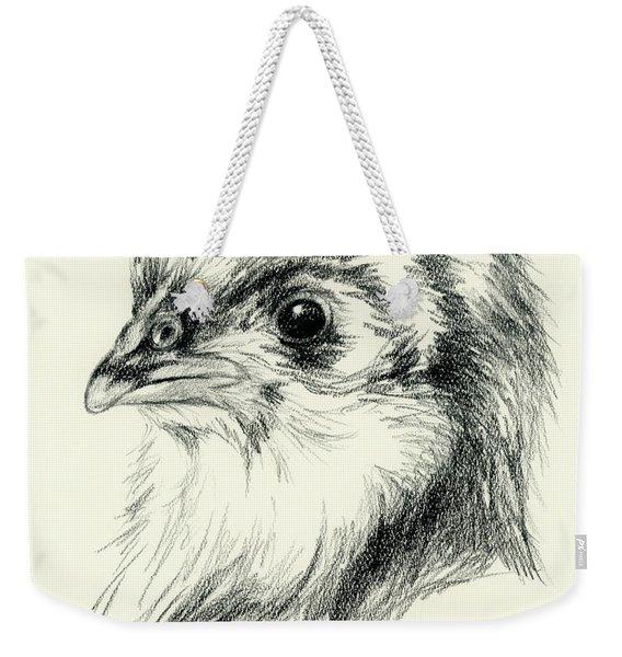 Black Australorp Chick In Charcoal Weekender Tote Bag