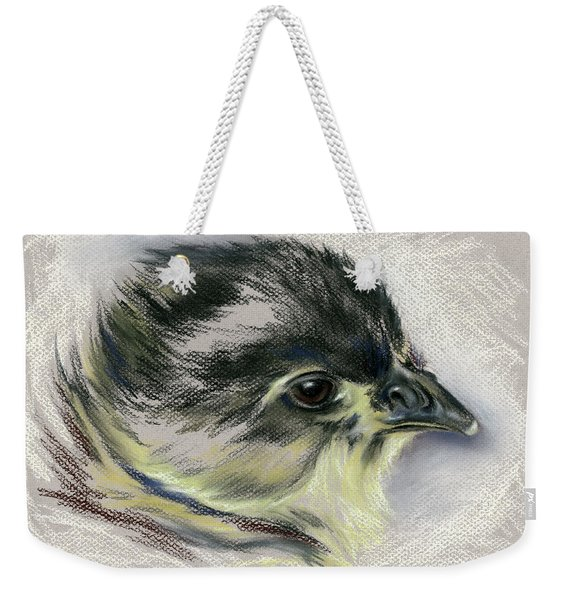 Black Australorp Chick Portrait Weekender Tote Bag