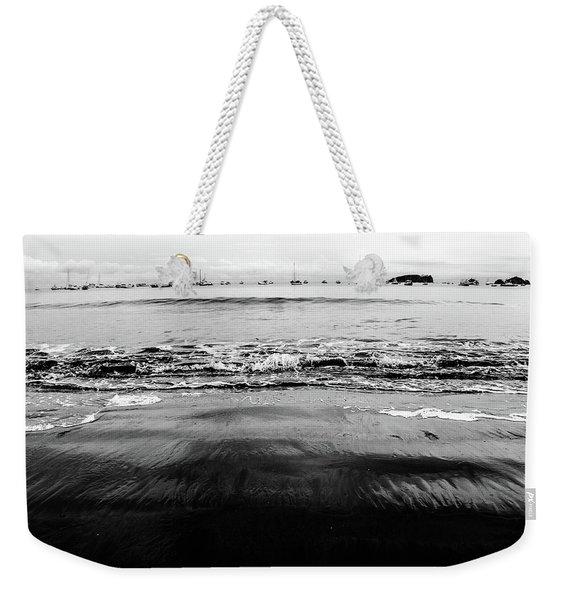 Black Beach  Weekender Tote Bag