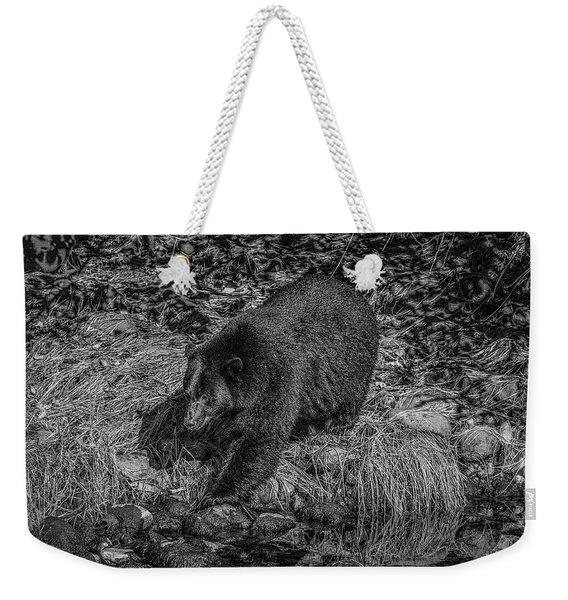 Black Bear Salmon Seeker Weekender Tote Bag