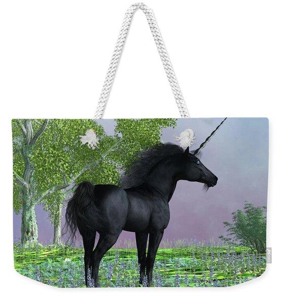 Black Beauty Unicorn Weekender Tote Bag