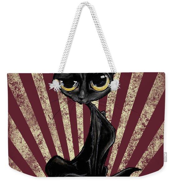 Black Cat Revolution Weekender Tote Bag