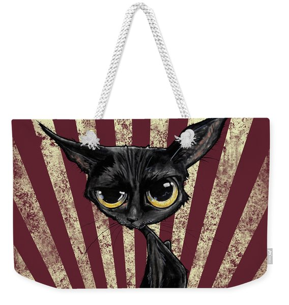 Black Cat Revolution Weekender Tote Bag